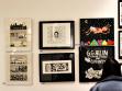 Mike Diana install at Orbital Comics